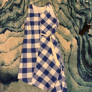 Mauve Anthropologie Gingham Check Dress